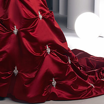 Once upon a dress scarlet davinci wedding dress for Da vinci red wedding dress