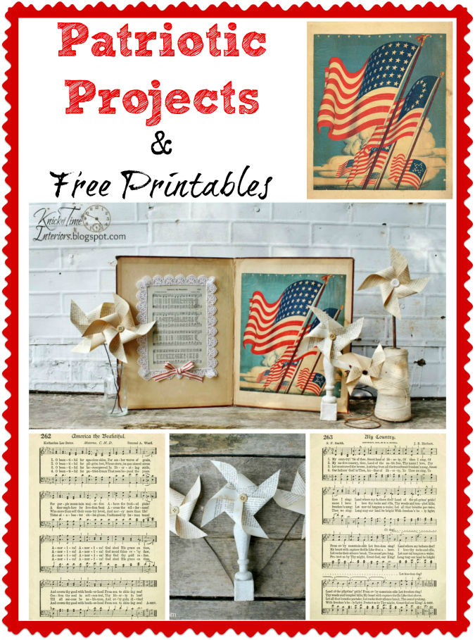 Patriotic Projects and Free Patriotic Printable Graphics - KnickofTime.net