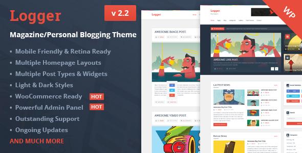 Logger v2.2 – Magazine/Personal Blogging Theme