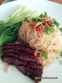 Thai Glass Noodles with Beef and Bok Choy