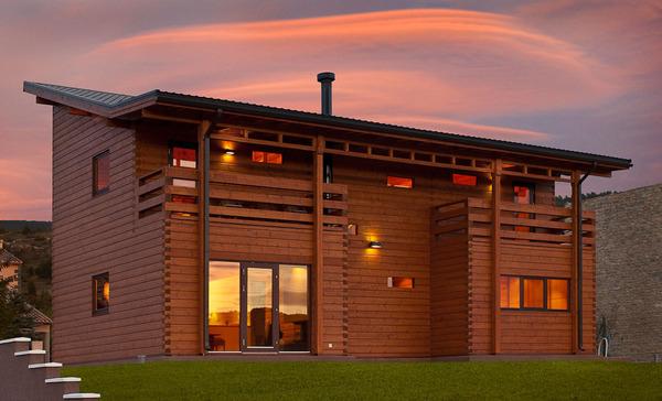 casa de maderade lujo