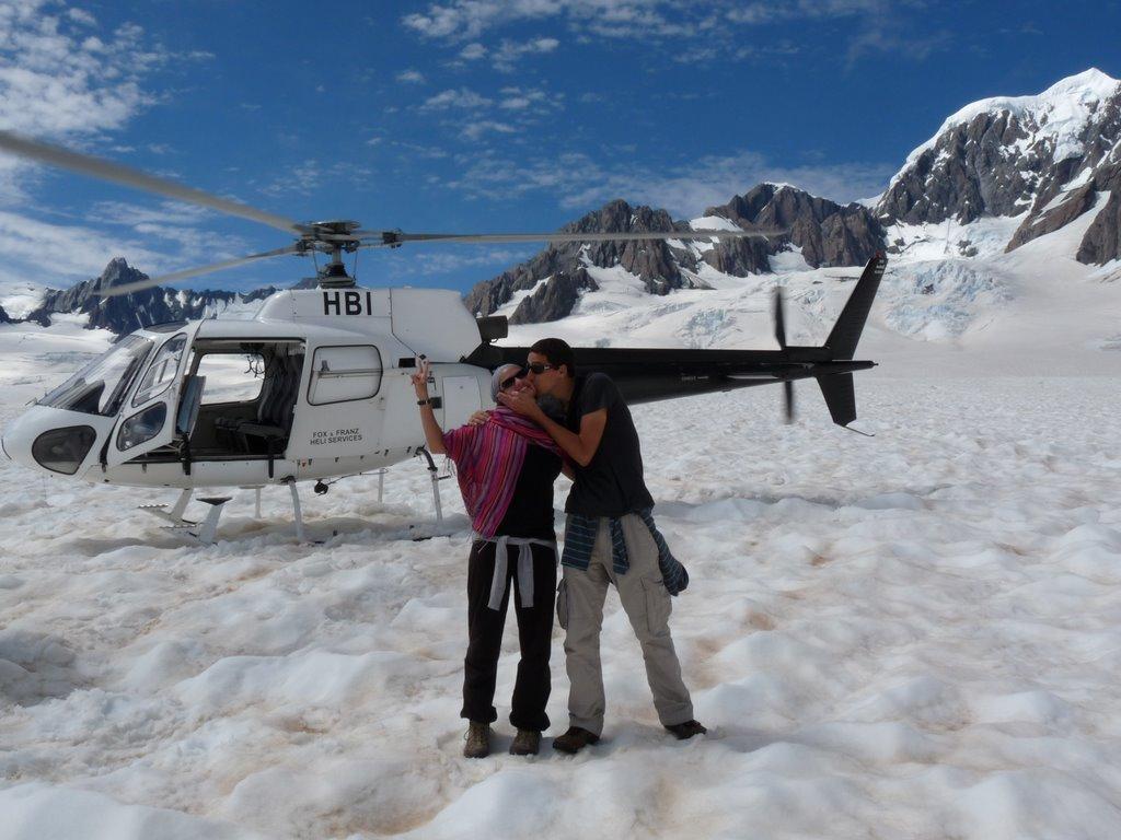 Glaciar fox, Nueva Zelanda, vuelta al mundo, round the world, La Aventura de Pablo y Elena