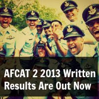 AFCAT 2 2013 Written Results Are Out Now