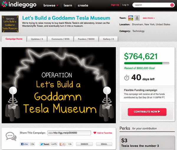 https://www.indiegogo.com/projects/let-s-build-a-goddamn-tesla-museum--5