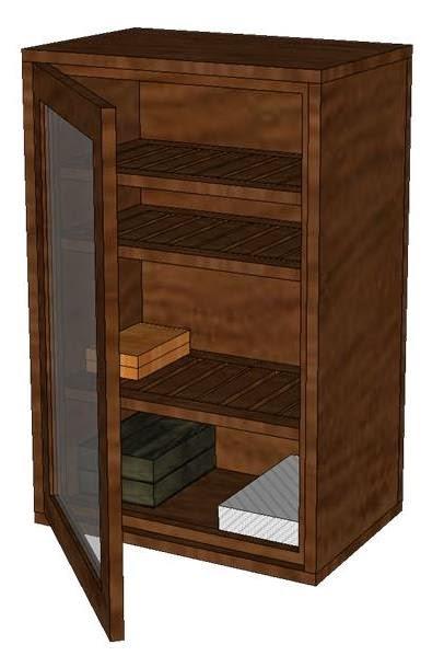 Humidor Cabinet Weekend Project | DIY Creations
