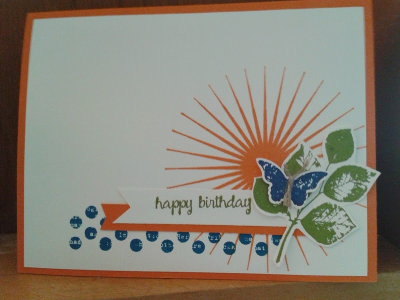 birthday card, stampin up, collage card
