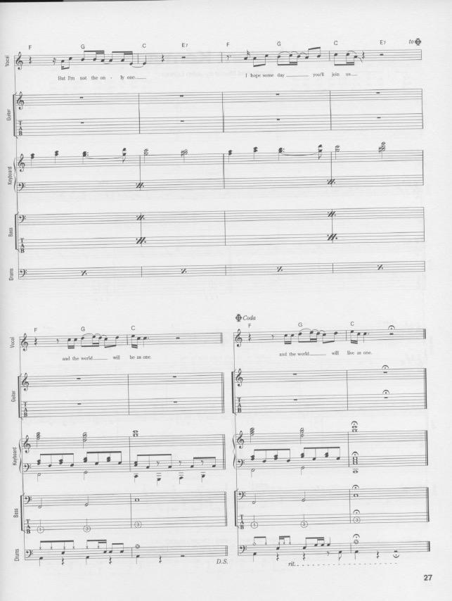 john lennon imagine piano pdf