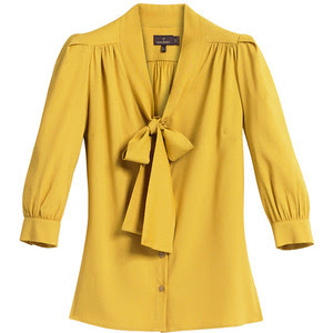 Yellow Blouse With Bow 33