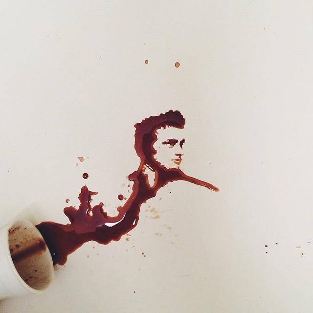 Giulia Bernardelli spilled food painting