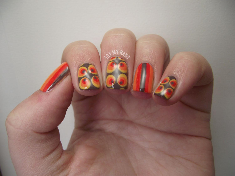 Try My Hand Alphabet Nail Art Challenge V For Vintage
