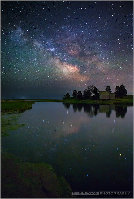 Cape Cod wedding blog photo from Chris Cook Photography about Galactic Reflection at Salt Pond