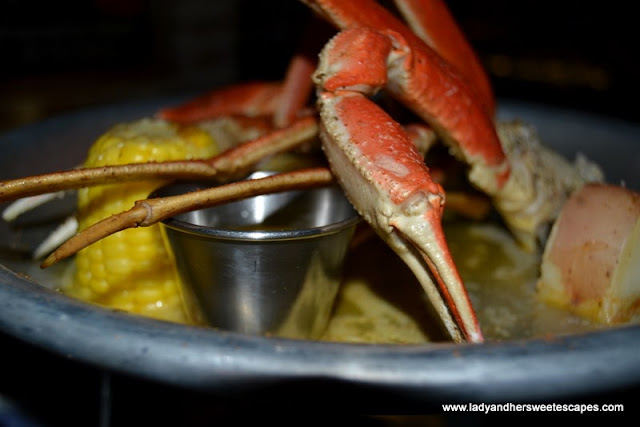 Blue crabs at Claw BBQ