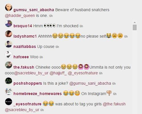 "Gumsi Sani Abacha Comes For Woman Trying To ""Snatch"" Her Husband (Screenshots)"