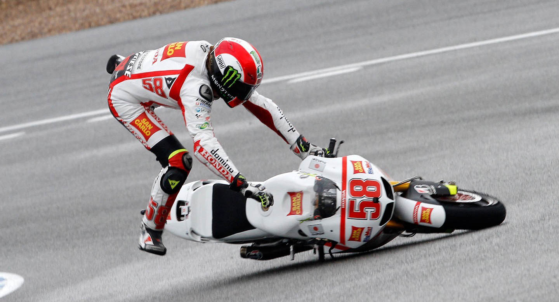 Crash Marco Simoncelli