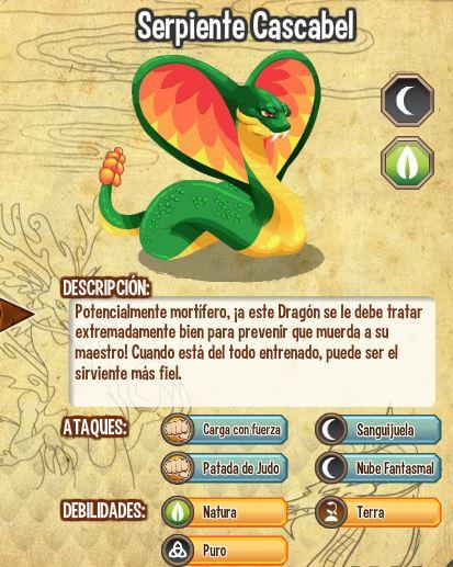 todas las estadisticas del dragon serpiente cascabel