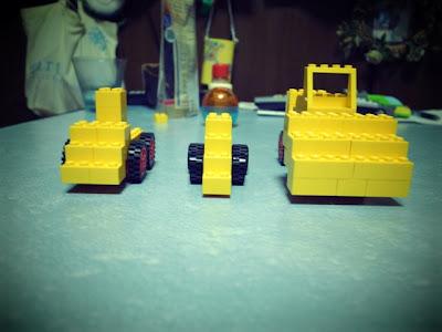 レゴ ブルドーザー 一列