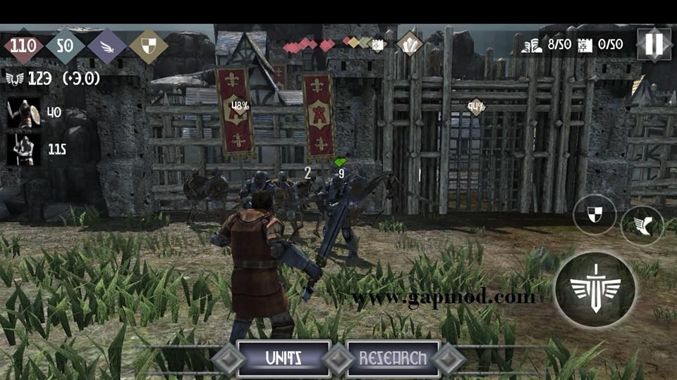 heroes and castles 2 apk data download