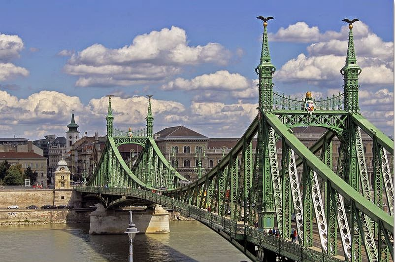 Buy canvas print of Liberty Bridge Budapest for beautiful wall art