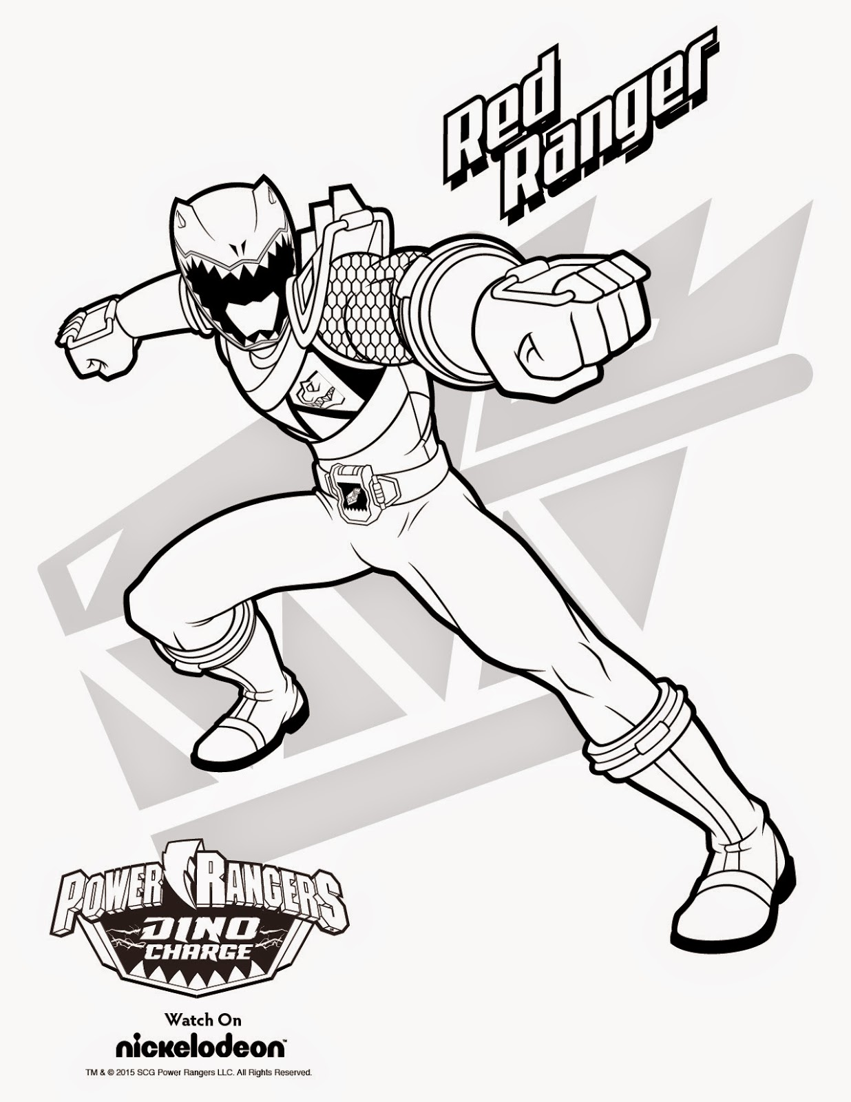printable power rangers coloring pages - photo#42