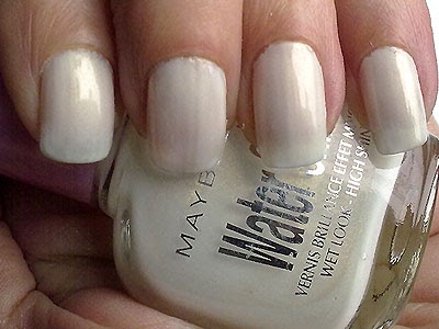 Maybelline Water Shine White Ice Swatch