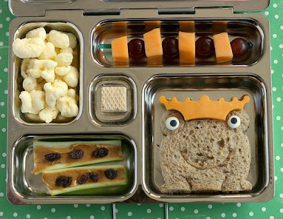 fun frog bento