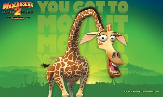Melman the Giraffe in Madagascar 2: Escape 2 Africa http://animatedfilmreviews.blogspot.com/2012/12/madagascar-escape-2-africa-2008-full-of.html