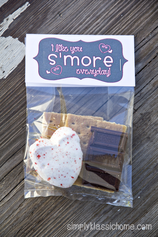 S'mores Valentine Treat & Free Printable - Yellow Bliss Road