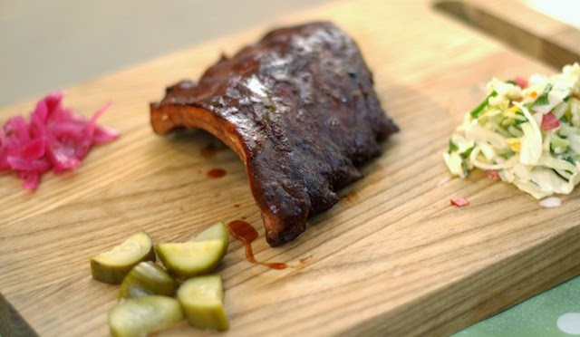 Kansas City Baby Back Ribs with homemade pickles