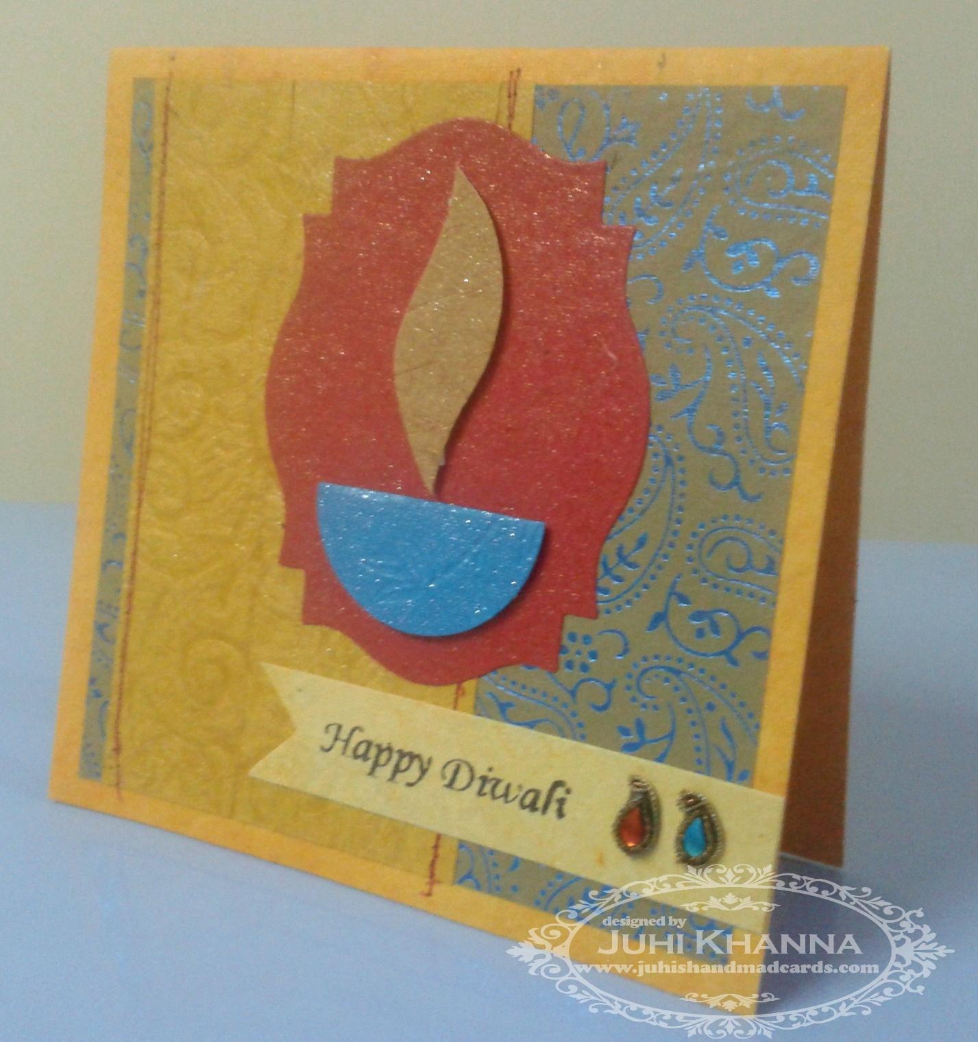 Handmade Diwali Greeting Cards