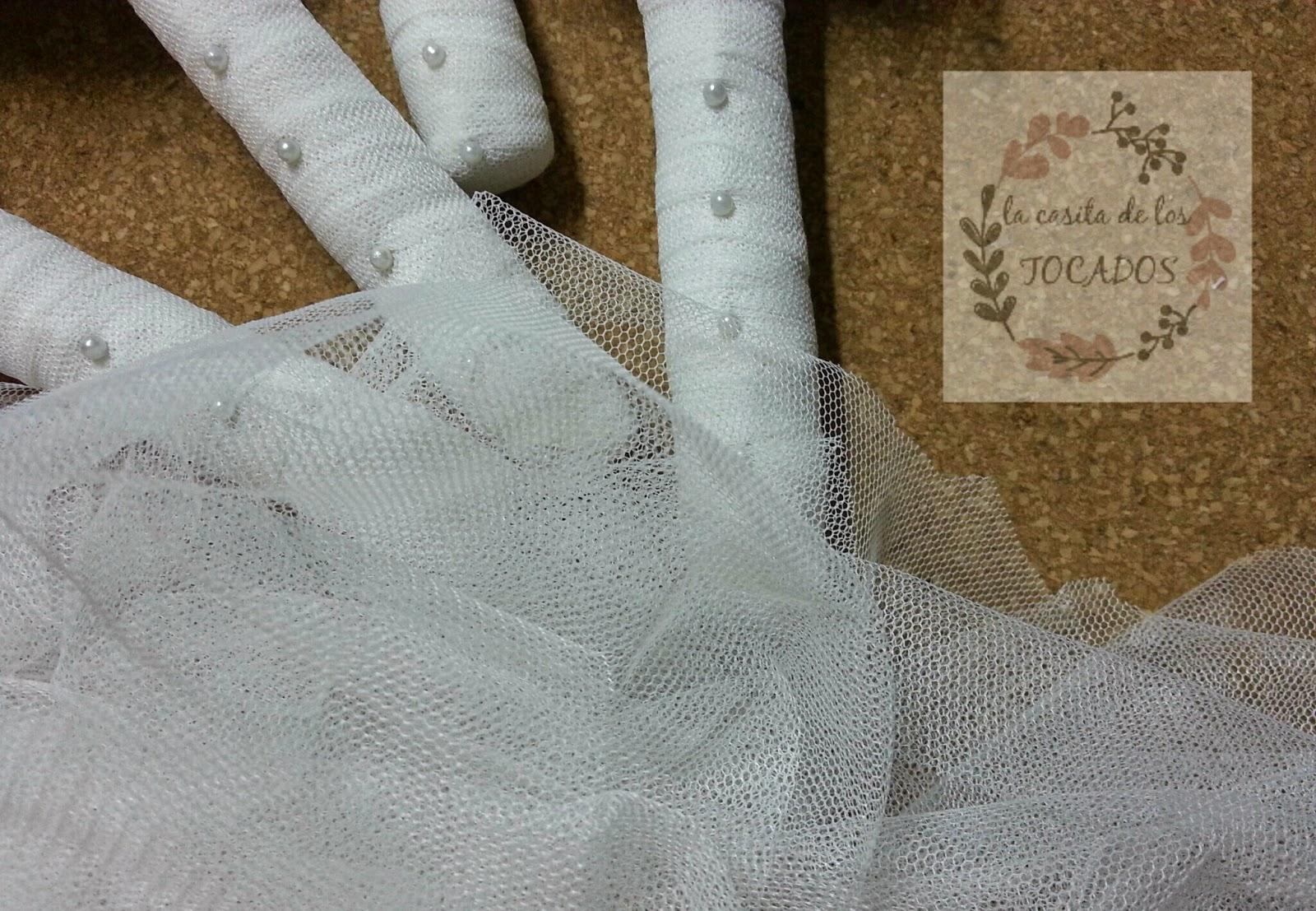 ramos con tul blanco de novia