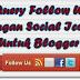 jQuery Follow Us Dengan Social Icons Untuk Blogger