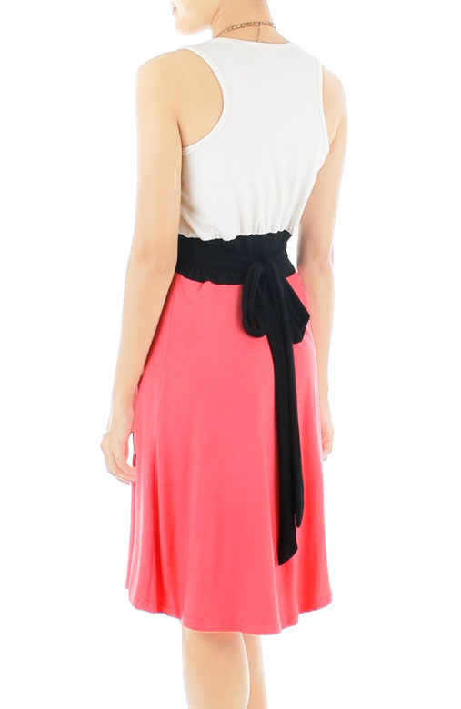 Lady Fleur Flare Dress – Salmon Pink
