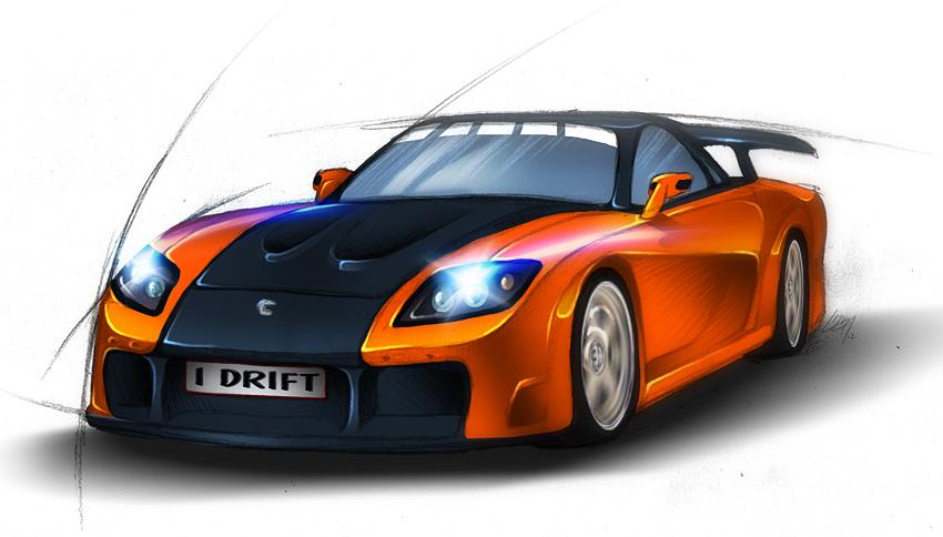 RX 7 Veilside Car Concept