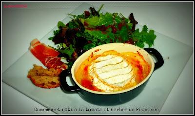 image Camembert rôti à la tomate et aux herbes de Provence
