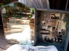Decoupaged vintage medicine cabinet
