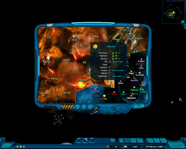 Space Rangers: A War Apart - Galaxy Map Screenshot