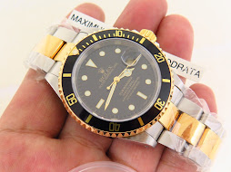 ROLEX SUBMARINER DATE TWO TONE BLACK DIAL - ROLEX 16613 - SERIE P YEAR 2001 - NEW OLD STOCK (NOS)