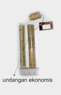 undangan gulung standar selongsong bambu