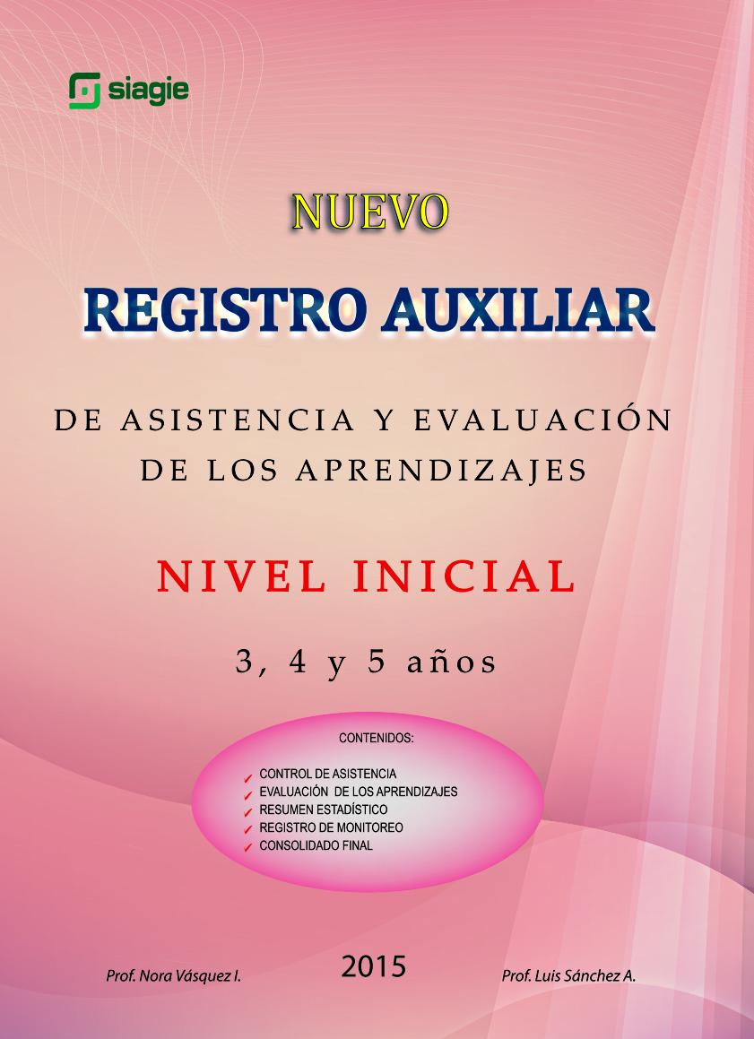 Registro de Eval- Nivel Inicial
