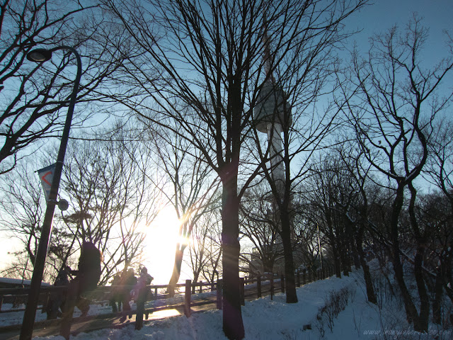 Sunset and N Seoul Tower in Mt. Namsan