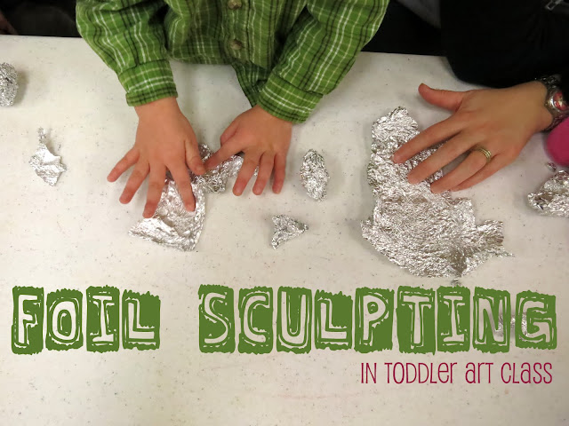 http://librarymakers.blogspot.com/2012/12/toddler-art-class-foil-sculpting.html