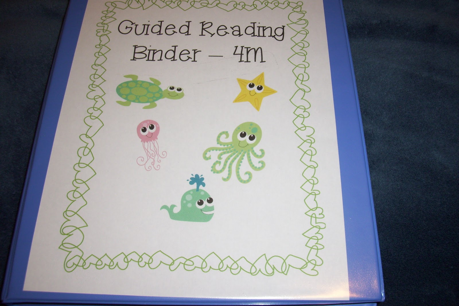 Smiles and sunshine guided reading binder for Reading binder cover