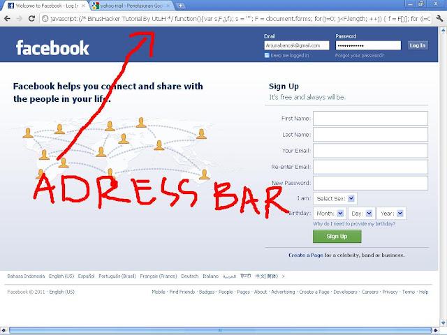 Tutorial dan Trik Melihat Password Bintang Address%2Bbar