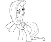 #3 Fluttershy Coloring Page
