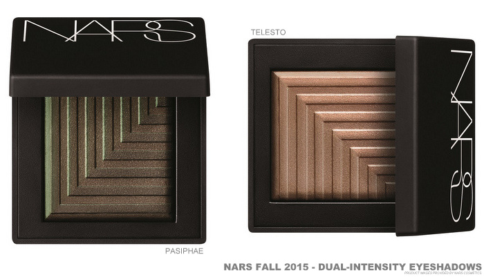 NARS Fall 2015 Private Screening Makeup Collection Swatches Dual Intensity Eyeshadows Pasiphae Telesto