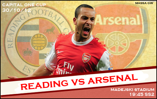 Keputusan Piala Capital one Cup Reading Vs Arsenal 31 Oktober 2012