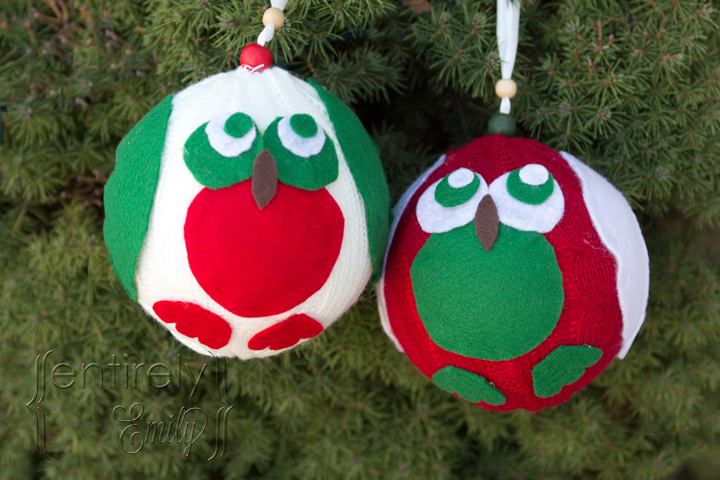 #NUO2012 Fuzzy Christmas Owl Ornaments 7