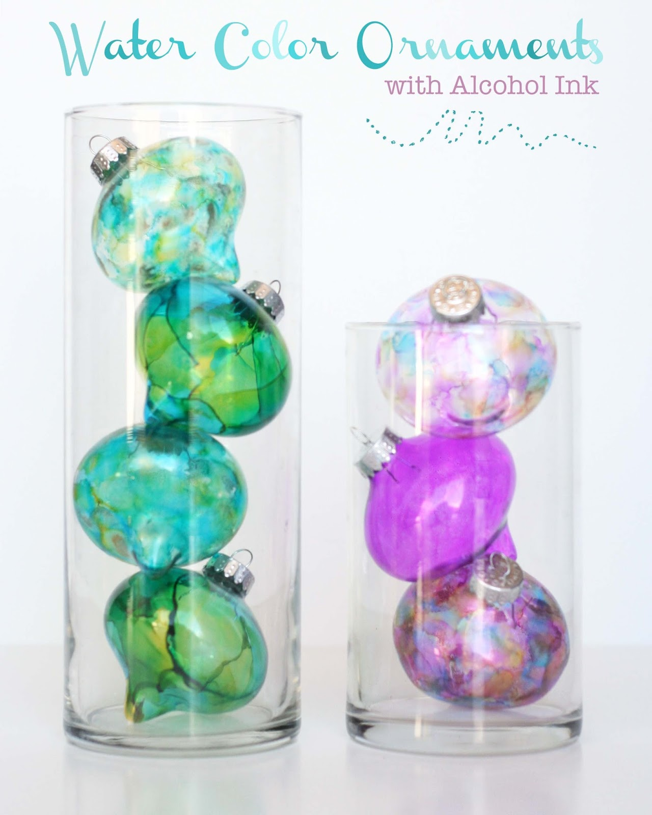 Homemade Water Color Alcohol Ink Ornaments | handmade ornaments no ...