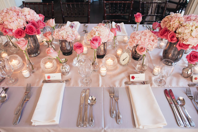 Bride Groom Table Setting : Chic Wedding Victorian Mirror Vase Mercury Bride  Groom Table Setting