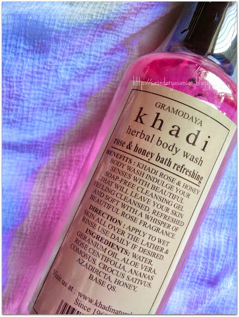 KHADI Rose & Honey Body Wash-Review